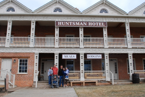 Huntsman Hotel: Melissa (and Rachael), Cameron, Dad, Tanya, Liv and in front, Duncan.
