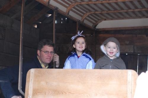 Papa, Olivia, & Duncan.