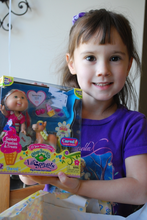 Cabbage Patch girl and pony from Great-Gma Cole!