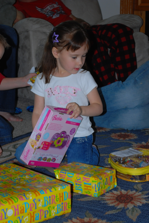 Opening presents from Mimi & Papa (Wagner)